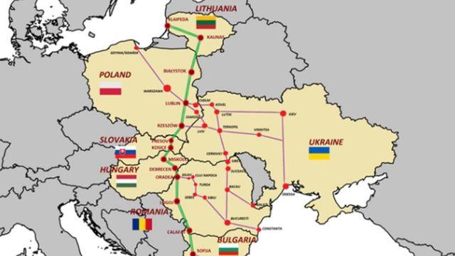 Via Carpatia - схема транспортного коридору та склад країн